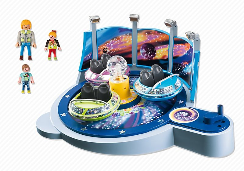 Playmobil Spinning Spaceship Ride With Lights