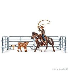 Schleich Team Roping with Cowboy (41418)