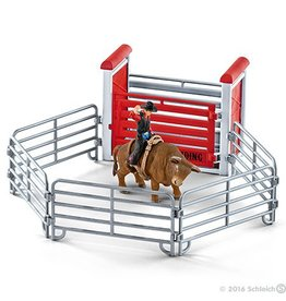 Schleich Bull Riding with Cowboy (41419)