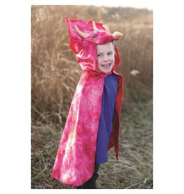 Great Pretenders Triceratops Hooded Cape Red 4-5