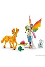 Schleich Rainbow Elf Dunya With Foal