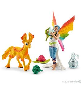 Schleich Rainbow Elf Dunya With Foal