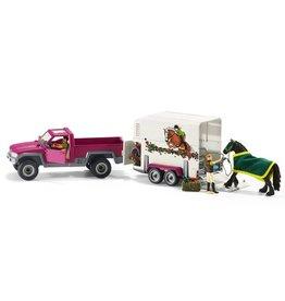 Schleich Pick Up w/ Horse Box