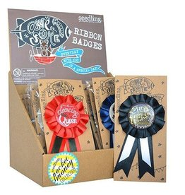 Seedling Awesome Ribbon Badges - Red