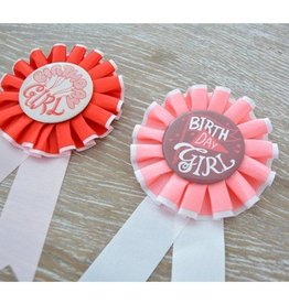 Seedling Birthday Ribbon Badge Girl