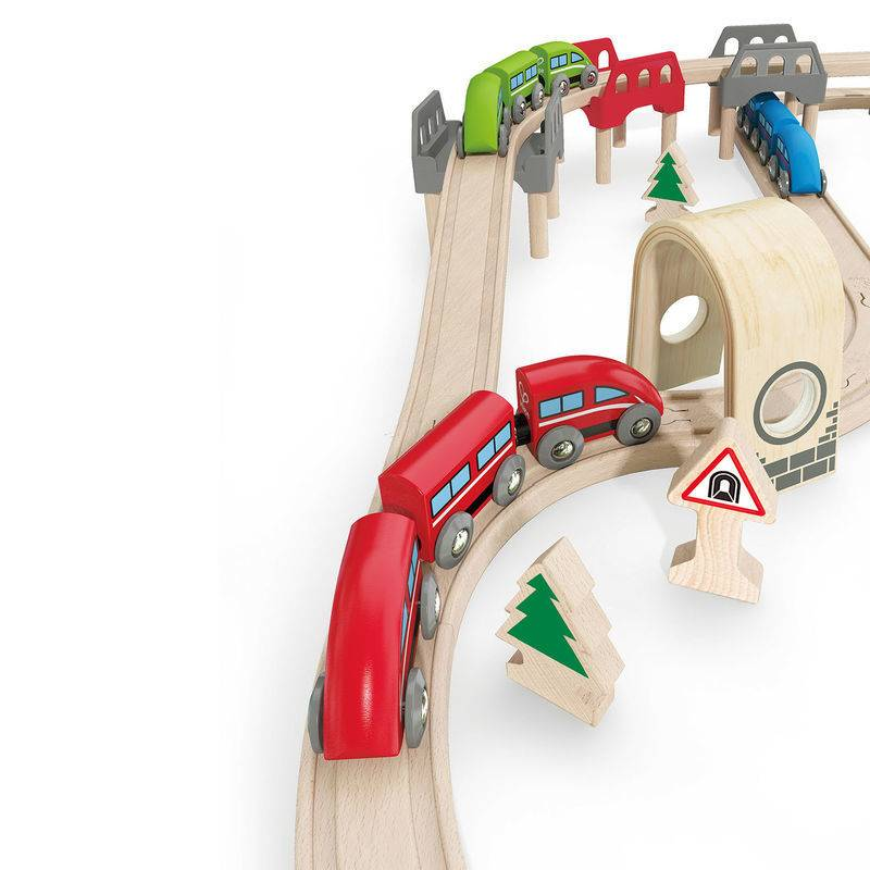 Hape High & Low Railway Set E3701
