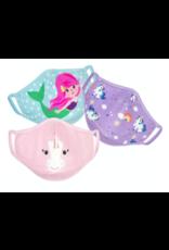 Zoocchini Organic Reusable Masks 3pk Unicorn