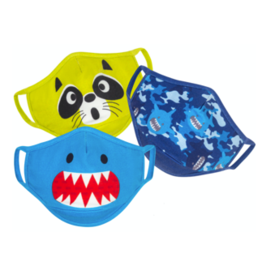 Zoocchini Organic Reusable Masks 3pk Shark