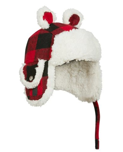 Kombi The Cute Aviator Hat Red Buffalo Plaid