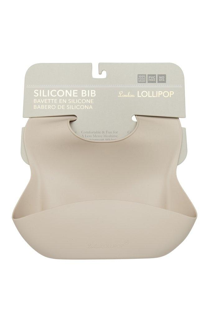 Loulou Lollipop Silicone Bib Sand