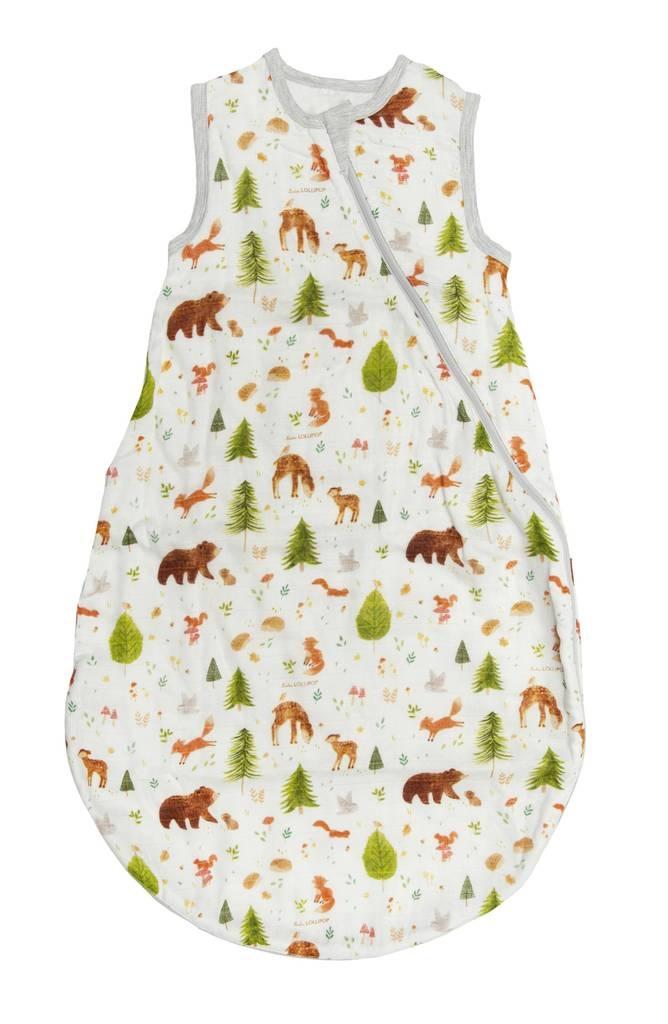 Loulou Lollipop Muslin Sleep Bag 1 Tog - Forest Friends