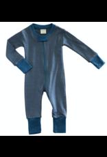 Wee Woolies Charcoal/Swell Merino Zip Sleeper