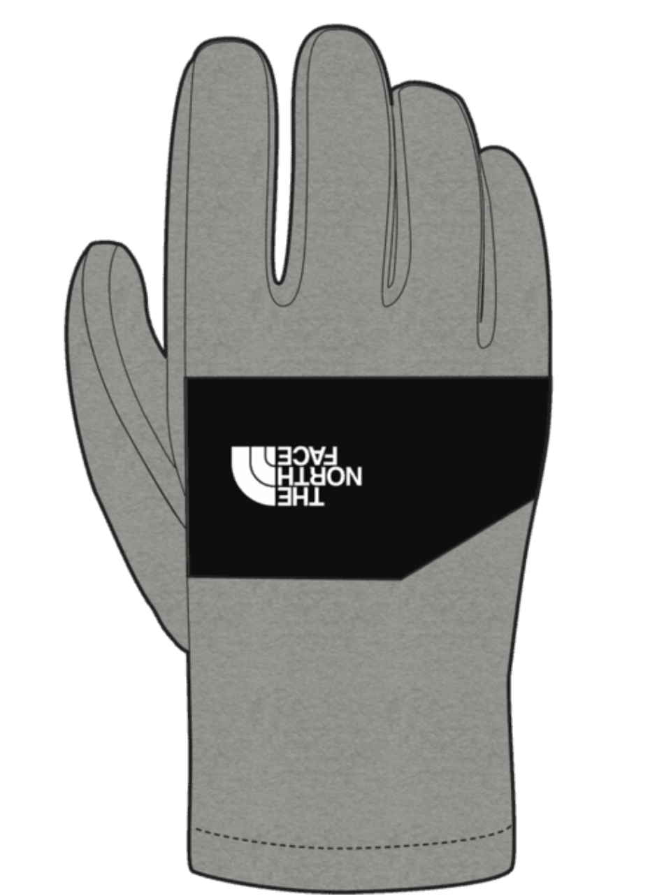 The North Face Y Sierra ETip Glove Grey Heather