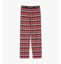 Fair Isle Moose Men's Jersey Pajama Pants