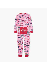 Pink Ski Holiday Kids Union Set