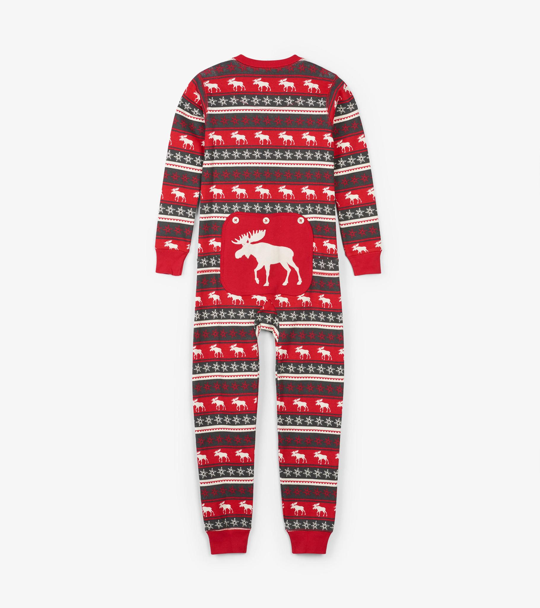Fair Isle Moose Kids Union Suit