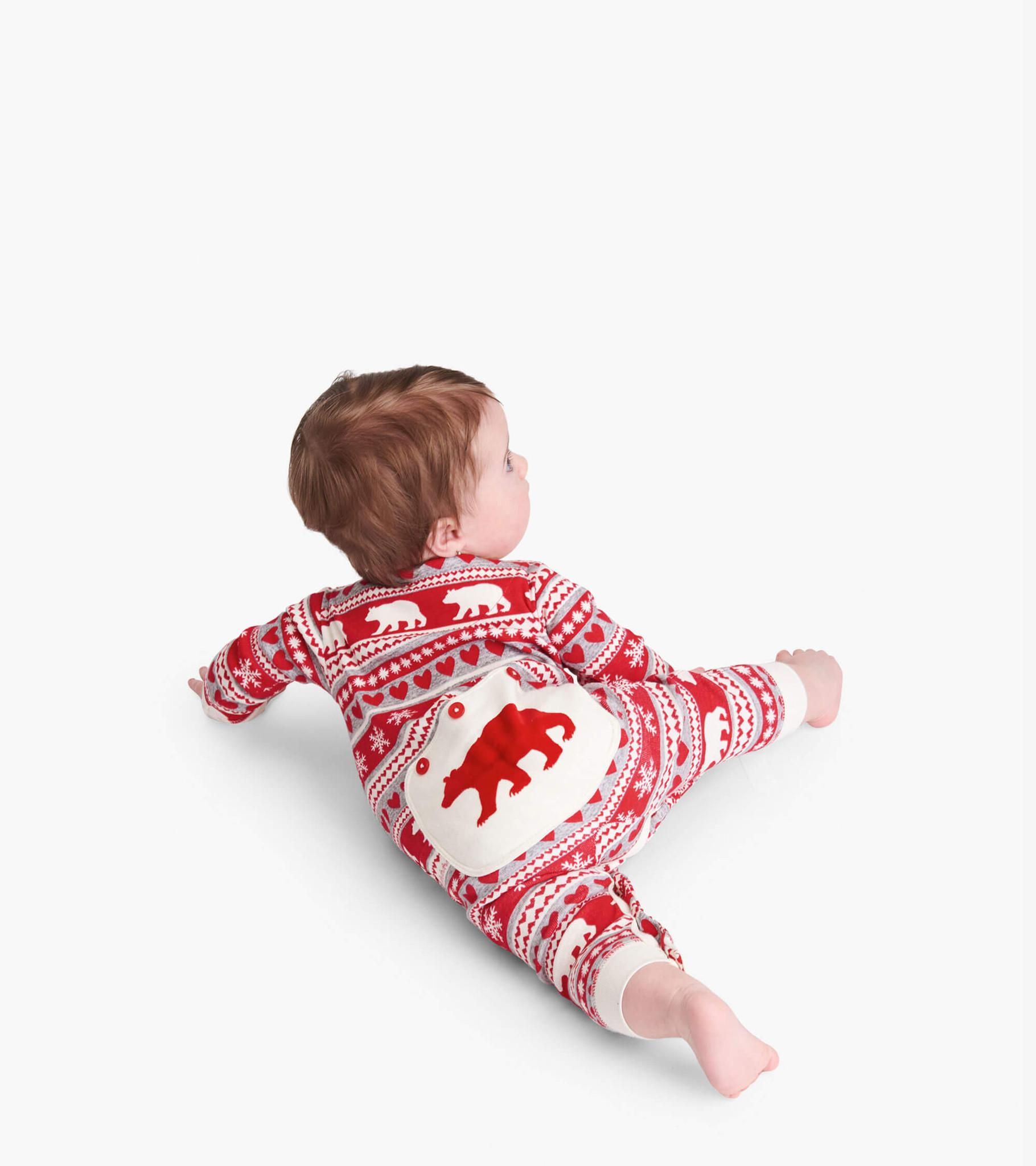 Fair Isle Bear Baby Union Suit