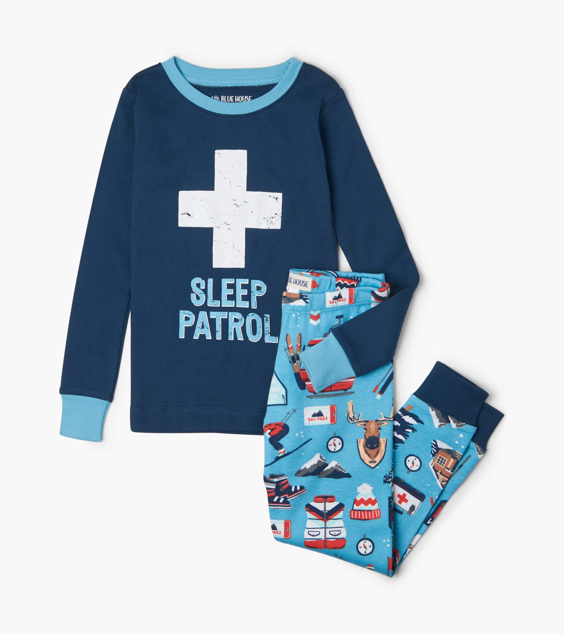 Ski Holiday Kids Applique Pajama Set