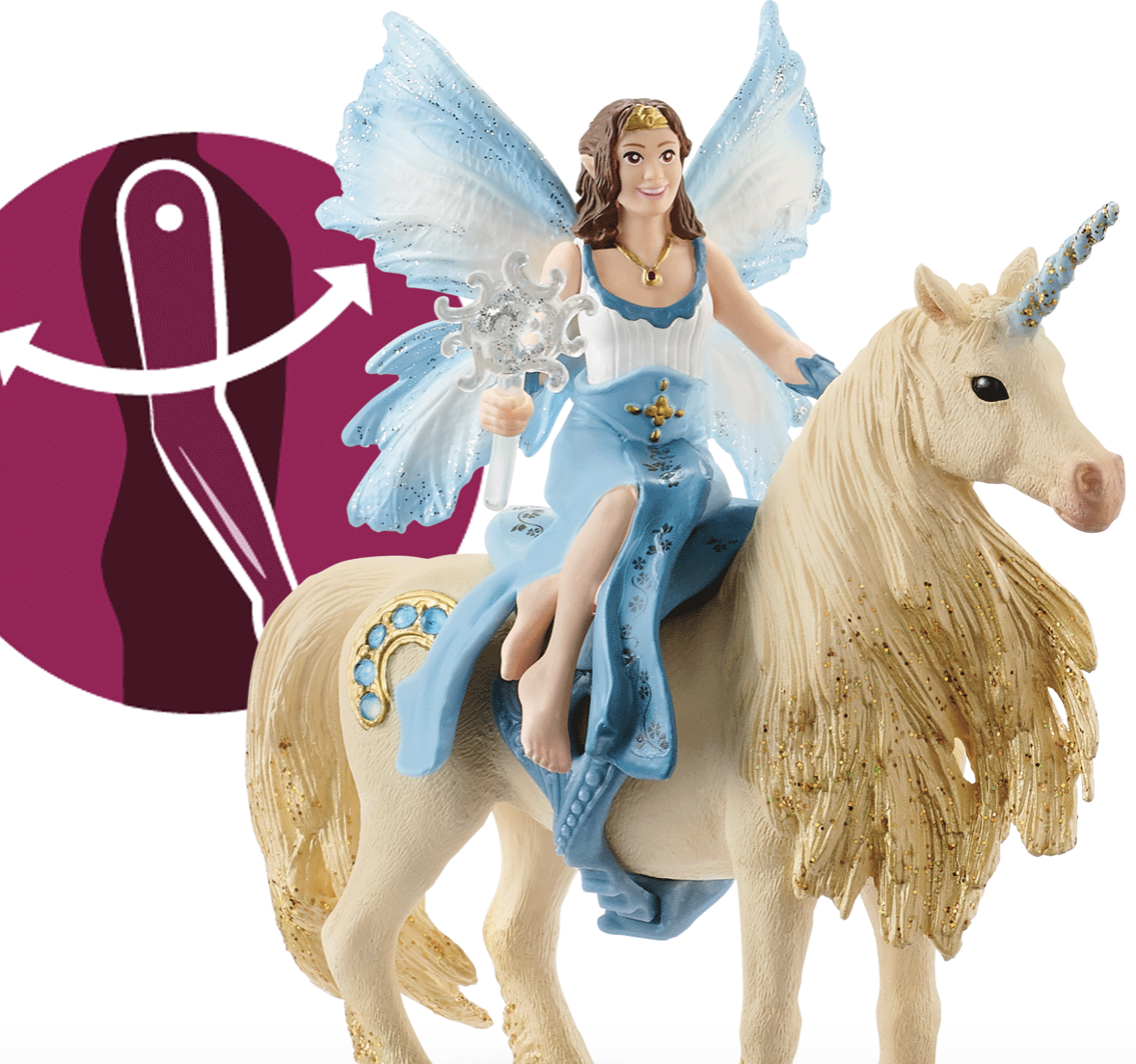 Schleich Eyela Riding on a Golden Unicorn