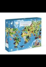 Janod 200pc 3D Educational Puzzle Endangered Animals