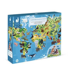 Janod 200pc 3D Educational Puzzle Endangered Animals