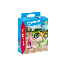 Playmobil Children with Skates and Bikes