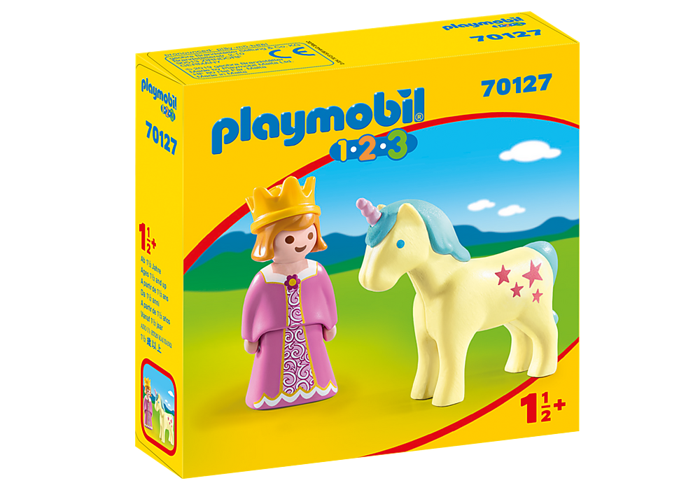Playmobil 1.2.3 Princess With Unicorn