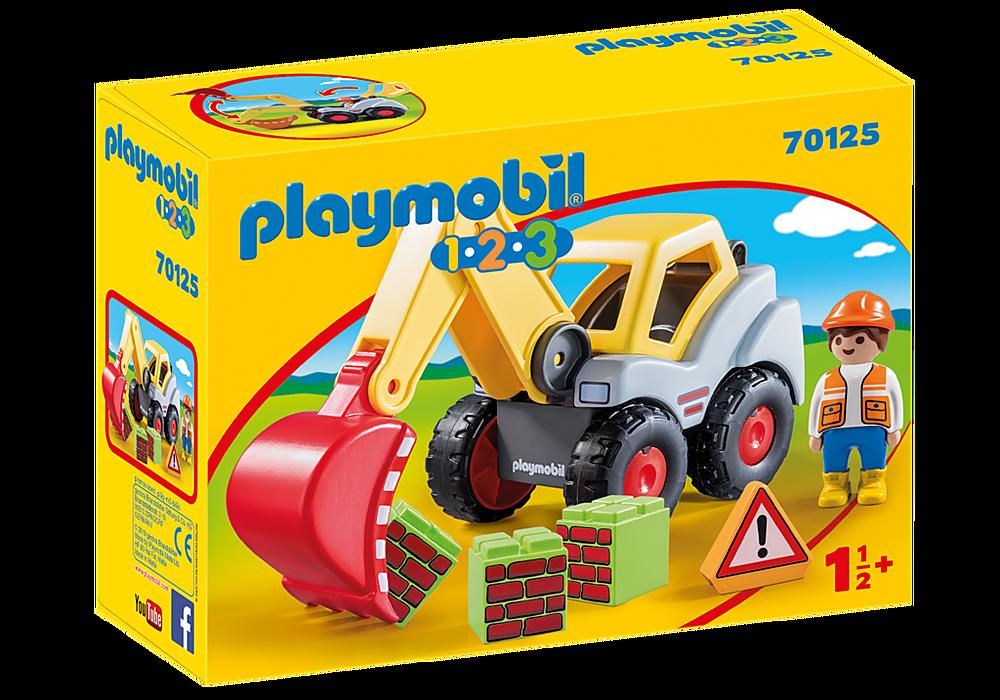 Playmobil 1.2.3 Shovel Excavator