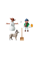 Playmobil Spirit Snow Time with Snips & Señor Carrots