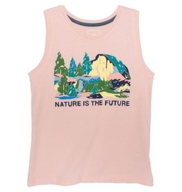 The North Face Girls Tri Blend Tank Impatiens Pink Heather