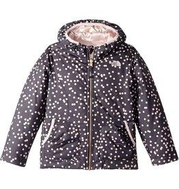 The North Face Toddler Girls Reversible Perrito Jacket Mountian Blue Polka Dot