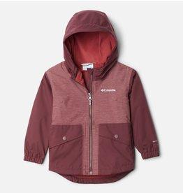 Columbia Rainy Trails Fleece Lined Jacket 671 Malbec 4T