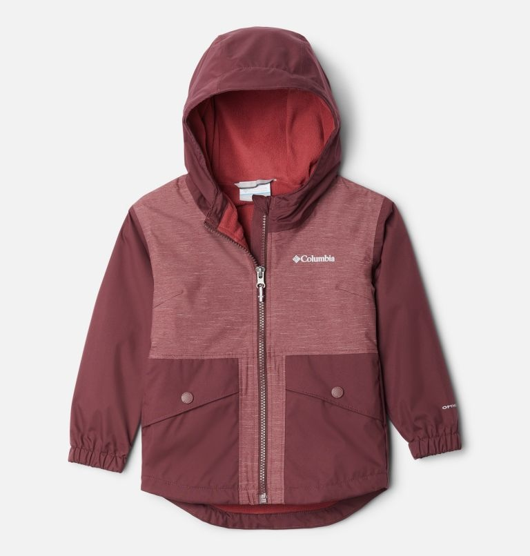 Columbia Rainy Trails Fleece Lined Jacket 671 Malbec, 3T