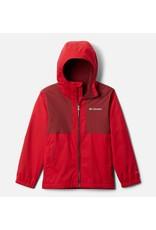 Columbia Rainy Trails Fleece Lined Jacket Mountain Red