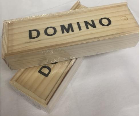 Incredible Wooden Case Dominos Set