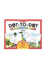 Dot to Dot Colouring Pad - Farms Animals