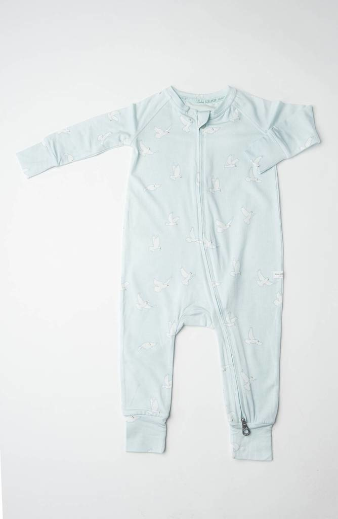 Loulou Lollipop Sleeper in Tencel - Peace Dove