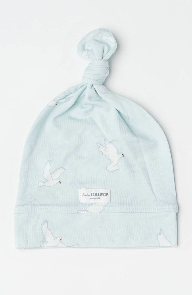 Loulou Lollipop Top Knot beanie - Tencel Peace Dove