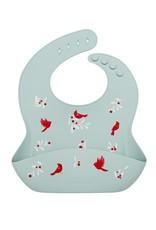 Loulou Lollipop Silicone Bib Printed - Cardinal