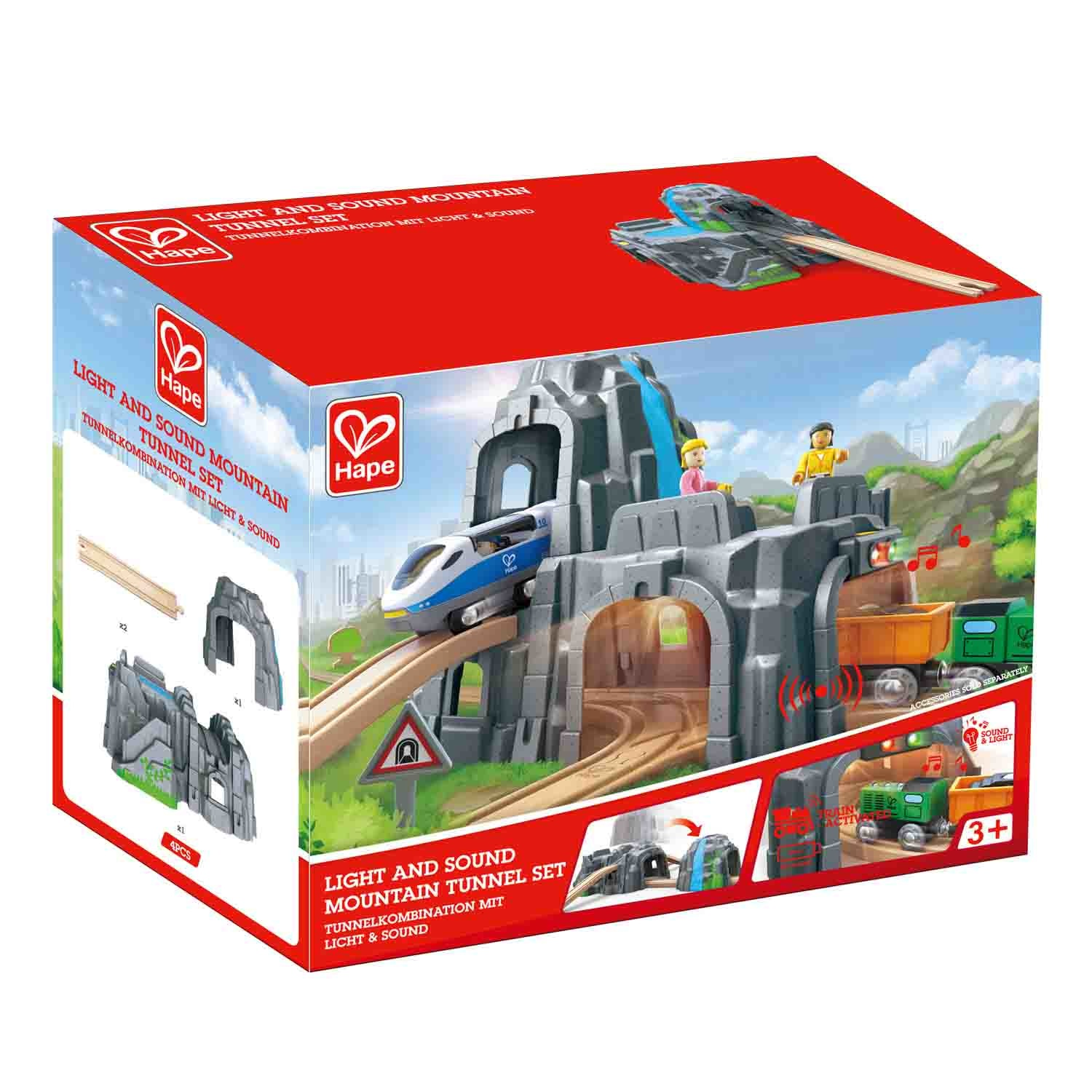 Hape Light and Sound Mountain Tunnel Set