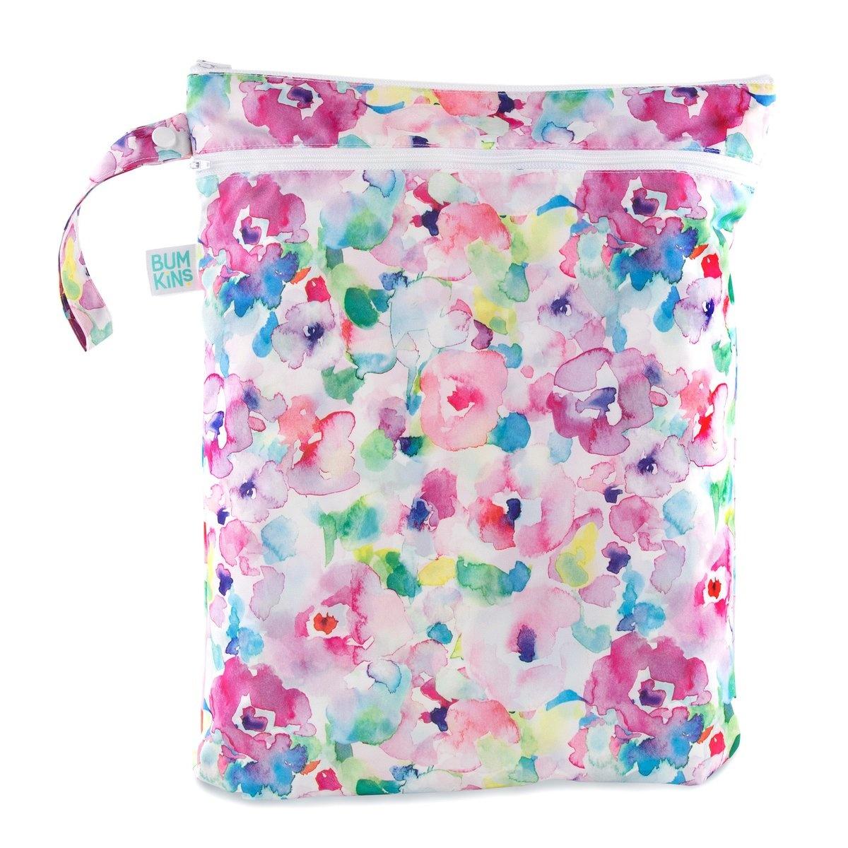 Bumkins Wet Bag Watercolor Flower