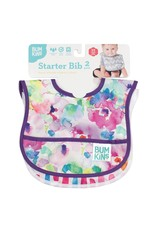 Bumkins Stater Bib 2 Pack Watercolour Flower