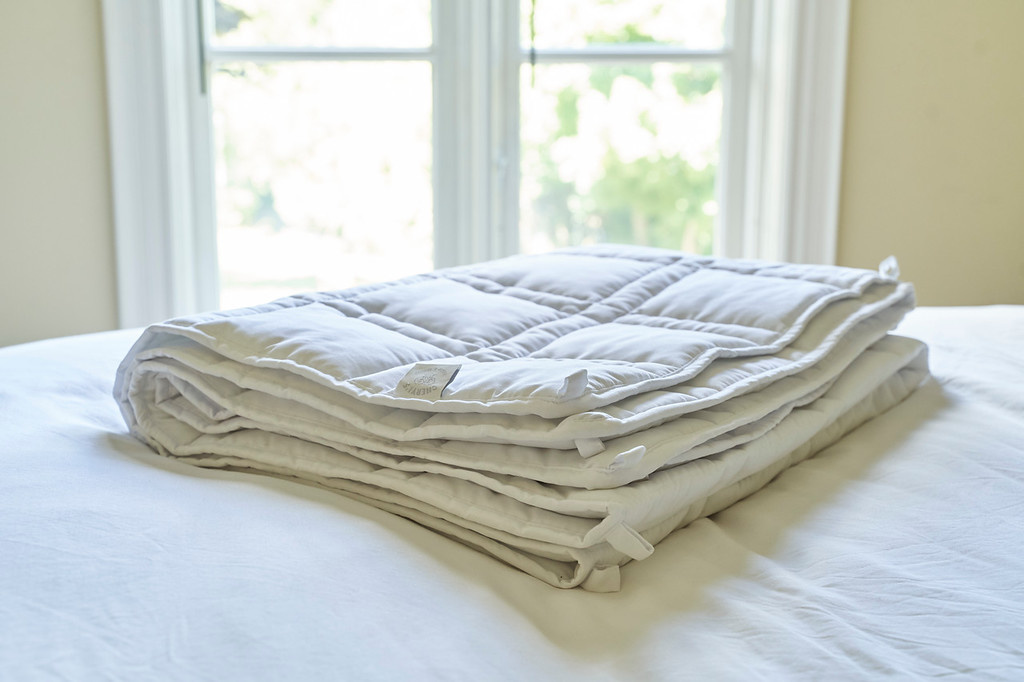 Cheryl's Home & Family The Huggler Weighted Blanket White 16 lbs Queen
