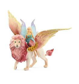 Schleich Fairy in Flight on Winged Lion