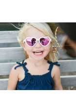 Babiators Sweethearts White w/Pink Mirror Lens 6+ Years