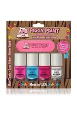 Piggy Paint Piggy Paint Set - 3 Colors, Basecoat, Nail File