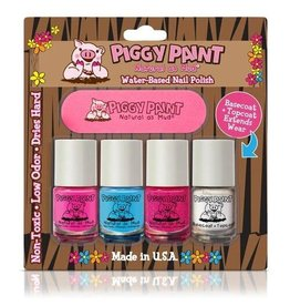 Piggy Paint Piggy Paint Set - 3 Colors, Basecoat, Nail File