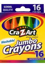 16 Washable Jumbo Crayons