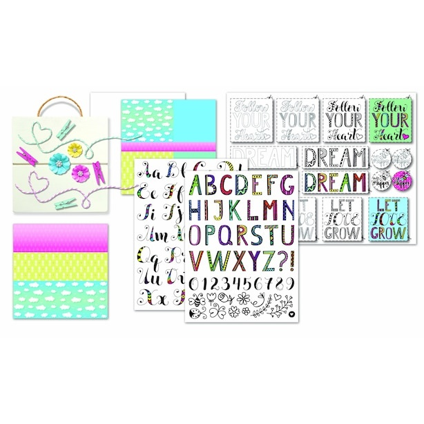 Shimmer and Sparkle Hand Letter Dream Board