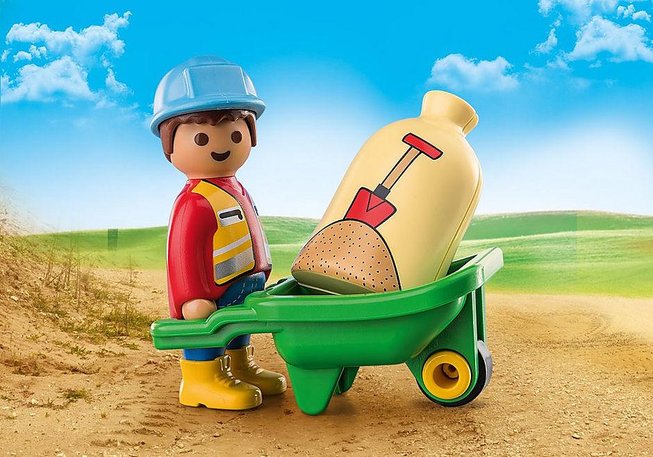 Playmobil Construction Worker with Wheelbarrow